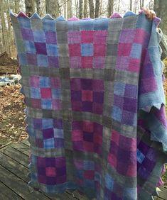 Prairie Points Blanket - Pin Loom Weaving