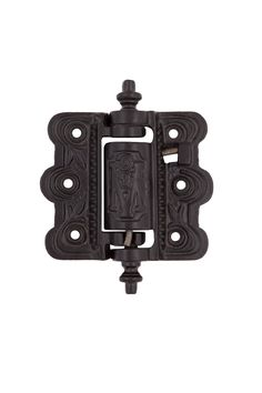 Victorian Cast Iron Screen Door Hinges #2201.US693 By Charleston Hardware.