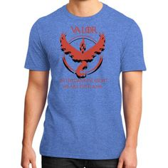 Team Valor - In Darkest Night We are the Flame District T-Shirt (on man)