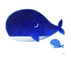 night sky and a whale Art And Illustration, Whale Tattoos, Stoff Design, Cute Whales, Baby Whale, Underwater Art, Wale, Henri Matisse, Pisces