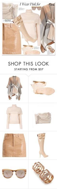 """""""Who Do You Wear Pink For?"""" by spenderellastyle ❤ liked on Polyvore featuring Chloé, Smoke x Mirrors, Repossi and breastcancerawareness"""