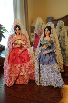 Spanish Senorita Dolls Mexican Dolls by RomantiqueTouch on Etsy, $26.00