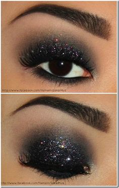 25 Makeup and Hair Tutorials. Love the eye makeup- perfect for New Years fun! #newyears #makeuptutorial #hairtutorial