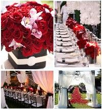 Black white and red event