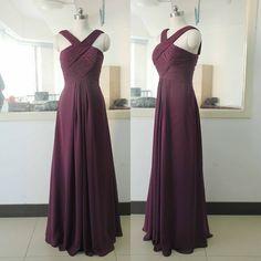Simple Prom Dress,Sleeveless Evening Dress,Chiffon Prom Dress,Prom Dresses