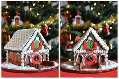 Gingerland: 3D Christmas Gingerbread House / 3D Karácsonyi mézeskalács házikó #gingerbread #decoratedcookies #christmas #christmascookies #mézeskalács #mézeskalácsházikó #gingerbreadhouse