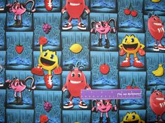 Disney Pac-Man And The Ghostly Adventures Tiles Cotton Fabric By The Half Yard by DaMommasTextiles on Etsy