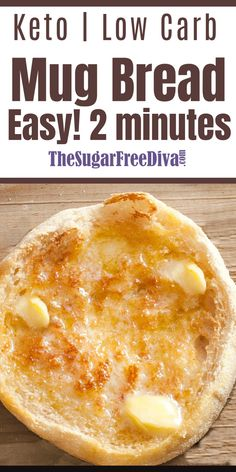 EASY KETO LOW CARB Mug Bread! - Simply the best and so easy too! A quick an easy bread recipe to make that is keto, sugar free, glu - Best Low Carb Bread, Lowest Carb Bread Recipe, Gluten Free Low Carb Bread Recipe, Gluten Free Carbs, Carb Free Bread, Low Calorie Bread, Easy Keto Bread Recipe, Healthy Low Calorie Meals, Fat Bombs Savory
