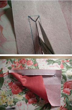coudre une poche intérieure de sac