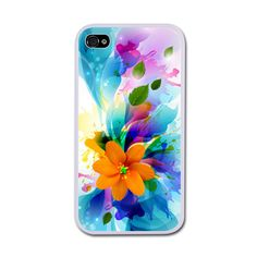 Bouquet Of Colors iPhone 4/4S Rubber Case White iPhone 4/4S Rubber... (€20) ❤ liked on Polyvore featuring accessories and tech accessories