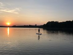 SUP in den Sonnenuntergang Haus Am See, Strand, Celestial, Sunset, Blue, Outdoor, Poland, Outdoors, Sunsets