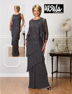 Ursula 63214 Ursula of Switzerland Collection ll Mother of the Bride, Prom, Quinceanera, Special Occasion Dresses, Formalwear, Formal Attire, Second Weddings