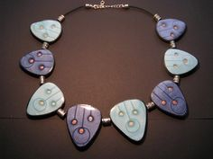 Polymer clay mica shift necklace, simple but stunning!