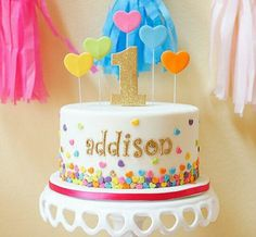Colorful Birthday Cake