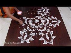 creative rangoli design with dots -simple rangoli art design -beautiful kolams -easy muggulu Rangoli Designs With Dots, Beautiful Rangoli Designs, Kolam Designs, Rangoli Simple, Latest Rangoli, Kolam Rangoli, Drawings, Creative, Easy