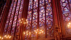 Kingdom of Light: Stunning Pictures From Paris' Sainte-Chapelle: Cross-Section of Stained Glass at Sainte-Chapelle