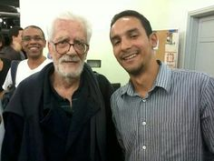 Apos uma aula de cinema com Eduardo Coutinho, maior Documentarista Brasileiro.