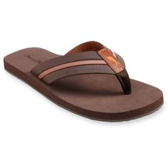 fad265385c2e09 Tommy Bahama Dark Brown Taheeti Flip-Flop Sandals ( 38) ❤ liked on Polyvore