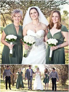 bridesmaids dresses by Gelique, beautiful in olive green
