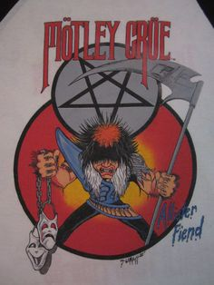 """Motley Crue 85 Tour - """"Theatre of pain tour"""" at Alpine Valley,WI and Rosemont Horizon about 4 months later"""
