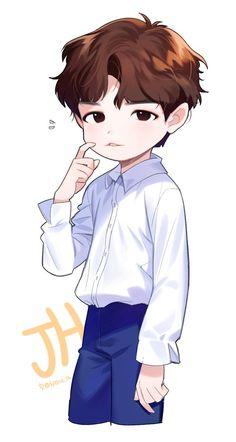 Bts Chibi, Anime Chibi, Anime Art, Boy Drawing, Daily Drawing, Idol 3, Jaehwan Wanna One, Wallpaper Wa, First Animation