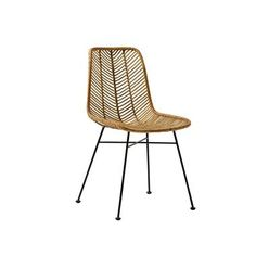 Amazing Bloomingville Natural Rattan Chair with Black Legs Seat