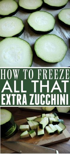 How to Freeze Zucchini | The Creek Line House Vegan Kitchen, Kitchen Recipes, Kitchen Hacks, Freezing Vegetables, Veggies, Freezer Meals, Easy Meals, 2 Ingredient Pancakes, Bountiful Harvest