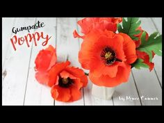 Learn how to make a beautiful, realistic looking, Gumpaste Poppy! I LOVE these…