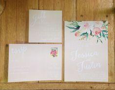 Floral watercolor wedding invite Invitation Suite by printCOstudio