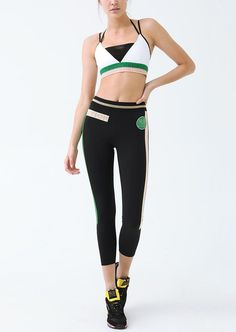 On Deck Legging - Multicoloured - Mid-rise gym tights