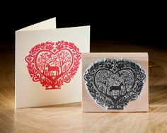 The Folk Heart Stamp / Noolibird Stamps