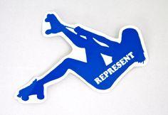 Represent Skater Girl Roller Derby Helmet Vinyl Sticker / Vinyl Decal on Etsy, $4.00