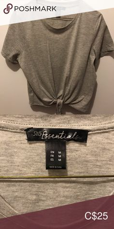 Crop Grey Knot-Tied T-Shirt Colour: light grey Size: M (women's)  Condition: used, but great! very cute crop top with knot-tied at the bottom!  ✨Everything will be washed & ironed before shipment, so don't worry about receiving anything that's not in amazing condition!✨ ✨If you would like the dimensions of the item, a photo of me styling it, or if you have any other questions, please reach out!✨ ✨I strongly welcome offers; no price is set in stone! Thank you for your interest!✨💋 Tops Crop… Shirt Colour, Tied T Shirt, Colour Light, Cute Crop Tops, Plus Fashion, Fashion Tips, Fashion Trends, Tie Knots, Colorful Shirts
