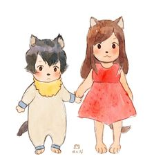 Anime Siblings, Anime Child, Haikyuu Manga, Anime Manga, Wolf Children Ame, Dibujos Anime Chibi, Japanese Animated Movies, Good Anime Series, Familia Anime