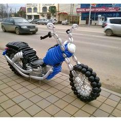 Любимый Харей-Девинсон из воздушных шаров. Мотоцикл из шаров  #Воздушныешарыкраснодар
