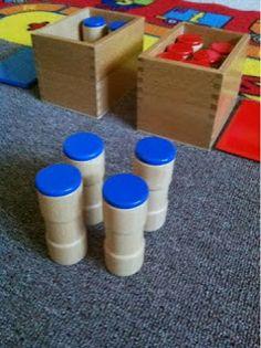 The Natural Homeschool: Montessori Sensorial: Sound Boxes Lesson