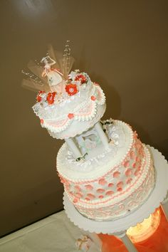 Quinceañera Cake with Handmade Topper