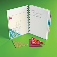 Dress up your notebook or journal with Page Pockets & Pen Loops!
