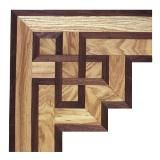 Wood Floor Inlay Corner Cannonade