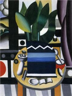 'Still life' (1922) by French painter Fernand Léger (1881-1955). via WikiPaintings