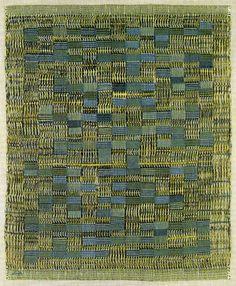 Anni Albers, Tikal, 1958  Cotton, plain and leno weave.