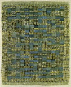 """Anni Albers, """"Tikal,"""" 1958, cotton, plain and leno weave, 76.2 x 58.42 cm, American Craft Museum, NYC. © The Joself and Anni Albers Foundation / Artists Rights Society (ARS) - albersfoundation.org"""