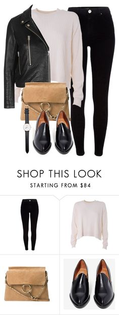 """Untitled #5666"" by laurenmboot ❤ liked on Polyvore featuring River Island, Acne Studios, Topshop, Chloé, Jeffrey Campbell and Daniel Wellington"