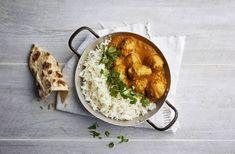 Härkis-pyörykät ja intialainen kormakastike ovat herkullinen yhdistelmä! Lisäksi tämä gluteeniton resepti on helppo ja nopea valmistaa. Turkkilaisen jogurtin voi korvata paksulla kasvipohjaisella jogurtilla, jolloin resepti sopii myös vegaaniruokavalioon. Curry, Ethnic Recipes, Curries