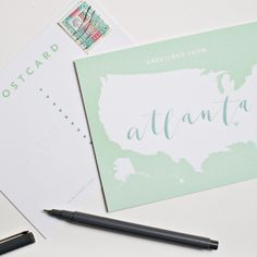 Greetings from Atlanta postcards | Yes Ma'am Paper + Goods
