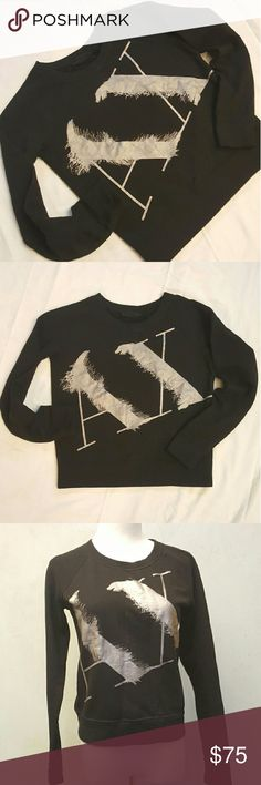 * Final Price * Armani Exchange black sweater A|X  Armani Exchange black sweater with silver AX. In great condition like new. Armani Exchange Sweaters