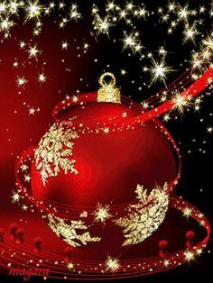 Sparkle n shine red Christmas Ornament Christmas Scenes, Noel Christmas, Christmas Pictures, Christmas Greetings, Winter Christmas, Christmas Lights, Christmas Decorations, Christmas Ornaments, Animated Christmas Cards
