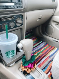 Easy way to decorate your car! Scrunchies, a cute reusable cup (that you'll ac… Easy way to decorate your car! Scrunchies, a cute reusable cup (that you'll ac…,Car accessories Easy way to decorate your.