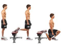 dumbbell bulgarian squat | Dumbbell Bulgarian split squat - 3 sets of 5, twice a week