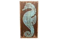 """This would look amazing in my """"dream"""" beach house :) Fencewood Panel w/  Seahorse on OneKingsLane.com"""